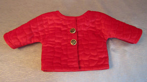 Red Velvet Quilted Jacket