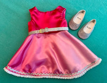 Load image into Gallery viewer, Shiny Pink Swing Dress