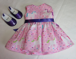Sleeveless Pink Unicorn Dress