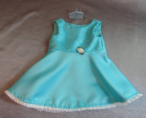 Sparkly Blue Swing Dress with Tiara