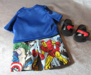 Superhero Shorts and T Shirt