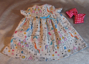 Unicorn and Castle Dress