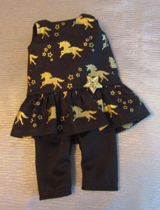 Wellie Wisher Unicorn Top and 3/4 Leggings
