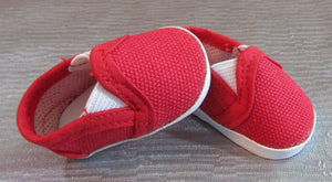 Wellie Wisher Red Canvas Shoes