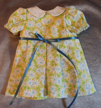 Load image into Gallery viewer, Yellow Daisy Collared Dress