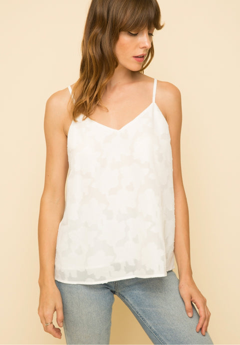 Mystree Off White Cami