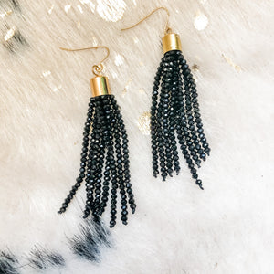 Beljoy Estelle Beaded Tassel Earrings