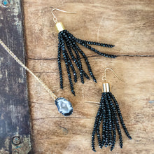 Load image into Gallery viewer, Beljoy Estelle Beaded Tassel Earrings