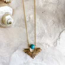 Load image into Gallery viewer, Turquoise Sunbeam Necklace
