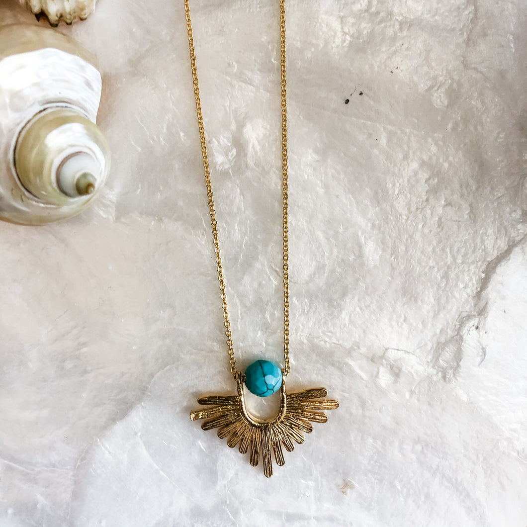Turquoise Sunbeam Necklace
