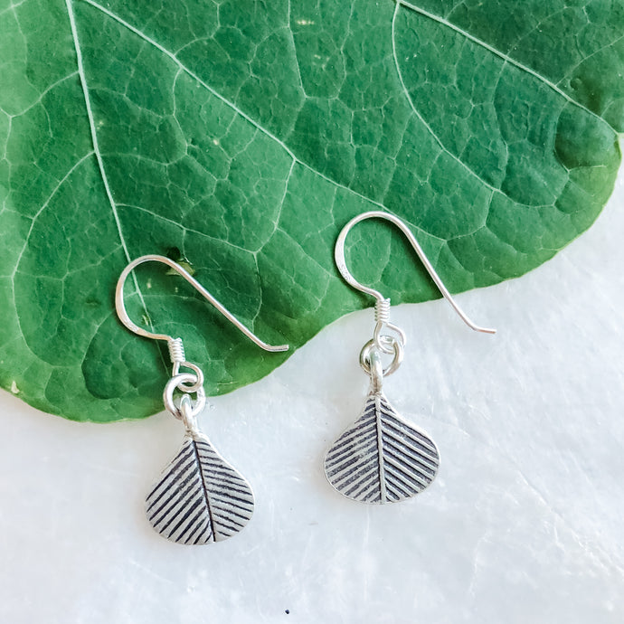 Hill Tribe Silver Leaf Earring