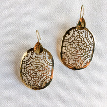 Load image into Gallery viewer, Stained Glass Brass Earrings