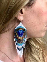 Load image into Gallery viewer, Peacock Earrings