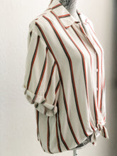 Load image into Gallery viewer, Rust Stripe Blouse