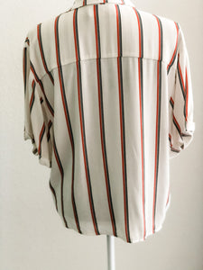 Rust Stripe Blouse