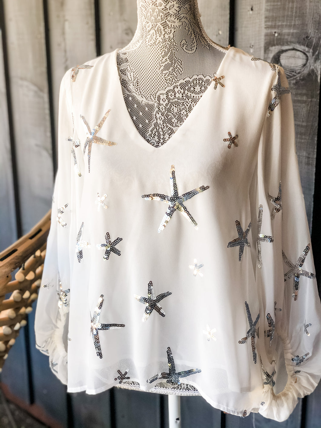 Sequin Star Blouse