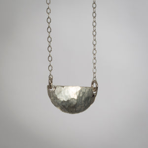 Tumbleweed Large Half Hammered Disc Necklace