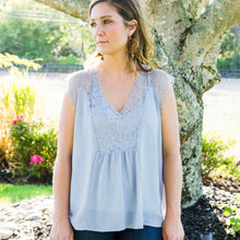 Load image into Gallery viewer, Lace Chiffon Top
