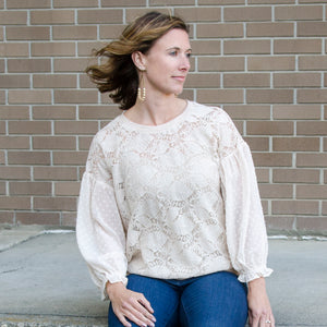 Sweet Suzanne Chiffon and Lace Top