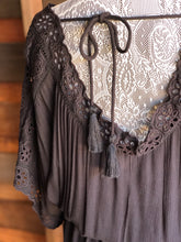 Load image into Gallery viewer, Black Eyelet Maxi Dress