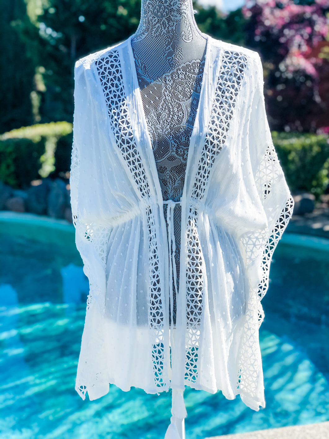 White Crochet Cover-Up