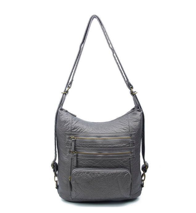 Ampere Silver Lisa Convertible Bag