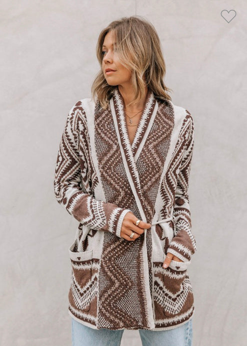 Lovestitch Aztec Wrap Sweater