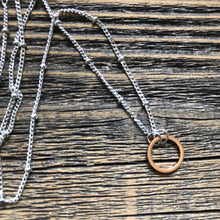 Load image into Gallery viewer, Rose Gold Karma Necklace