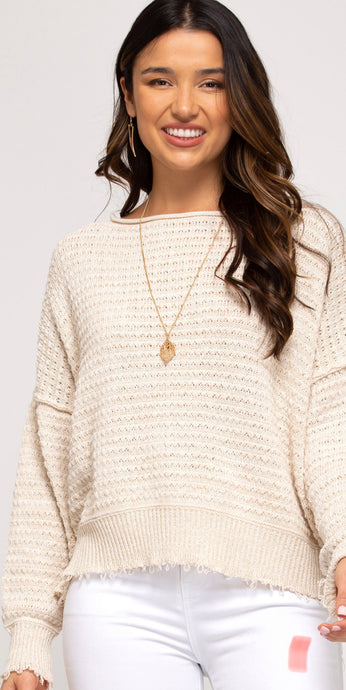 She & Sky Textured Sweater