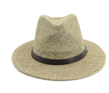 Load image into Gallery viewer, Black Belt Straw Panama Hat