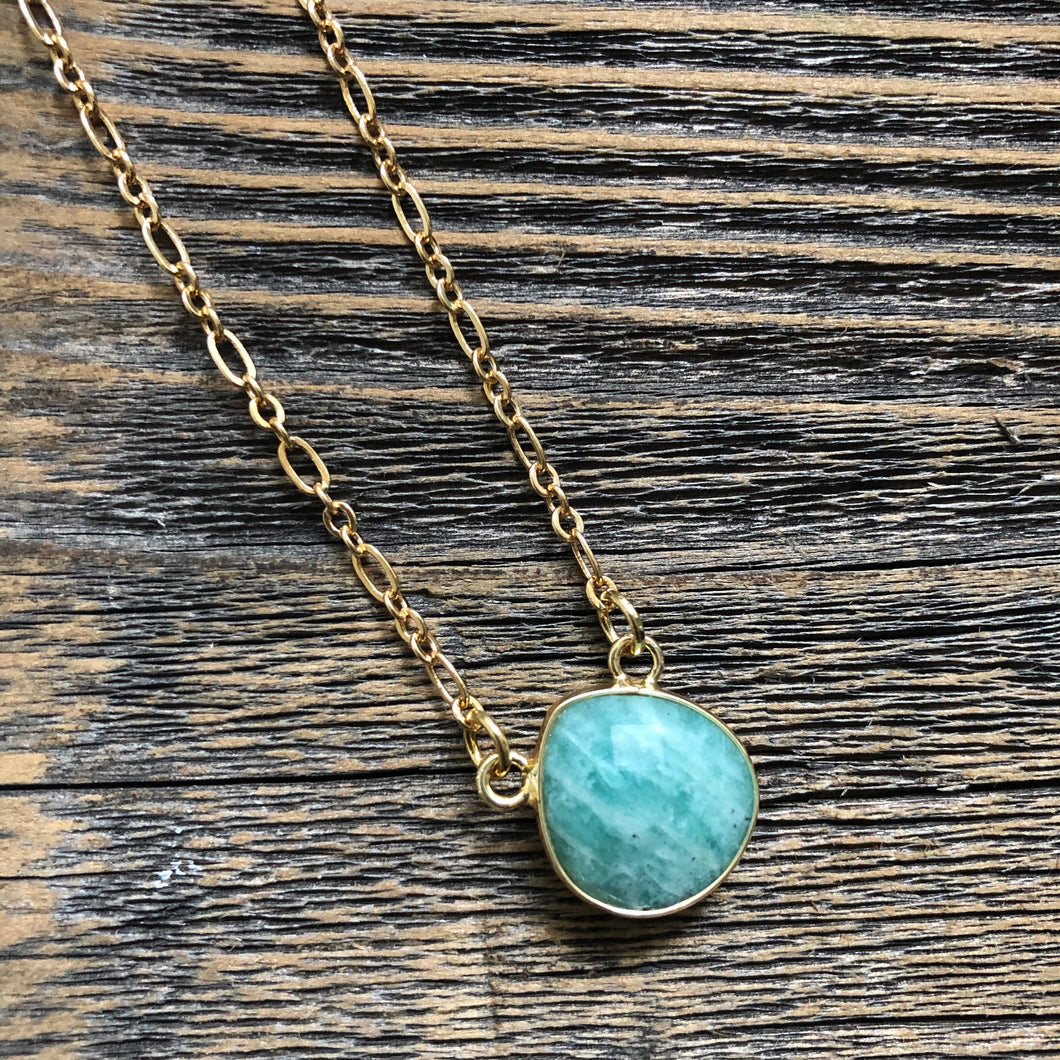 Mesa Blue Faceted Amazonite Necklace