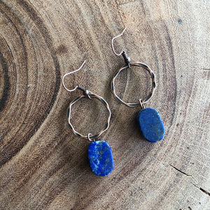 Jewelry Junkie Blue Lapis Slab Earrings