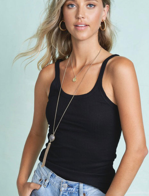 Dani Black Scoop Tank