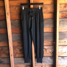 Load image into Gallery viewer, Poppy Drawstring Joggers Black