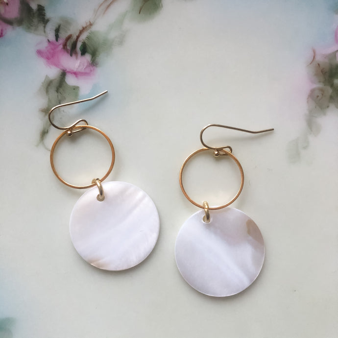 Mother of Pearl Geometric Earrings