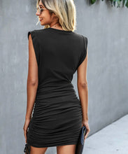Load image into Gallery viewer, Bodycon Shirred Mini Dress