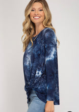 Load image into Gallery viewer, She & Sky Tie Dye Shirt w/Twist