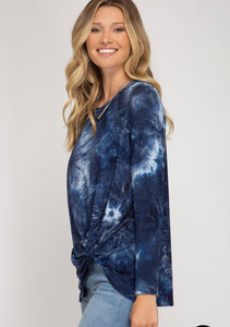 She & Sky Tie Dye Shirt w/Twist