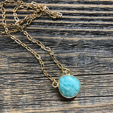 Load image into Gallery viewer, Mesa Blue Faceted Amazonite Necklace