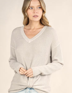 Lovestitch Thermal Front Knot Top