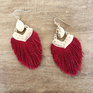 Tagus Silk Tassel Earrings