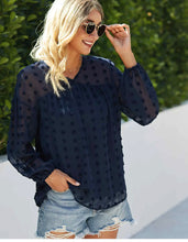 Load image into Gallery viewer, Long Sleeve Swiss Dot Top