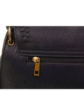 Ampere Black Braided Detail Bag