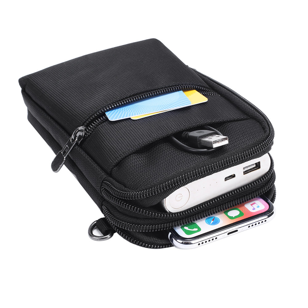 Cell Phone Bag Black With Blue