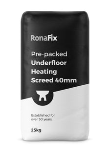 Ronafix Pre-packed Underfloor Heating Screed 40mm