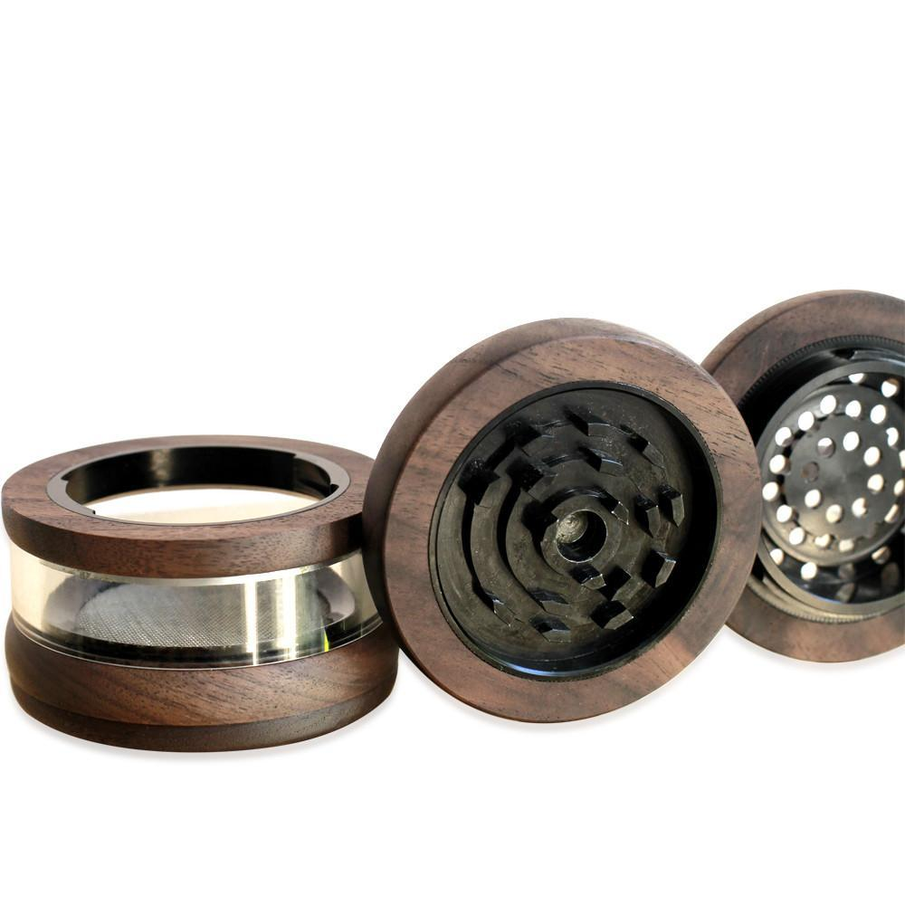 Marley Glass and walnut wood Large Grinder