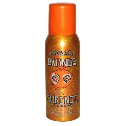 Orange Chronic Smoke Out Air Freshener 4oz