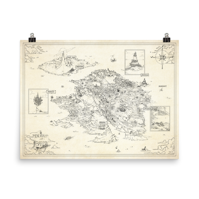 Bahumia World Map Print