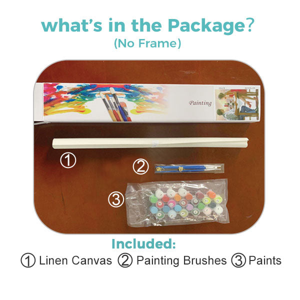 Paint by Numbers Kit for Kids - Shining Deer - BlingPainting