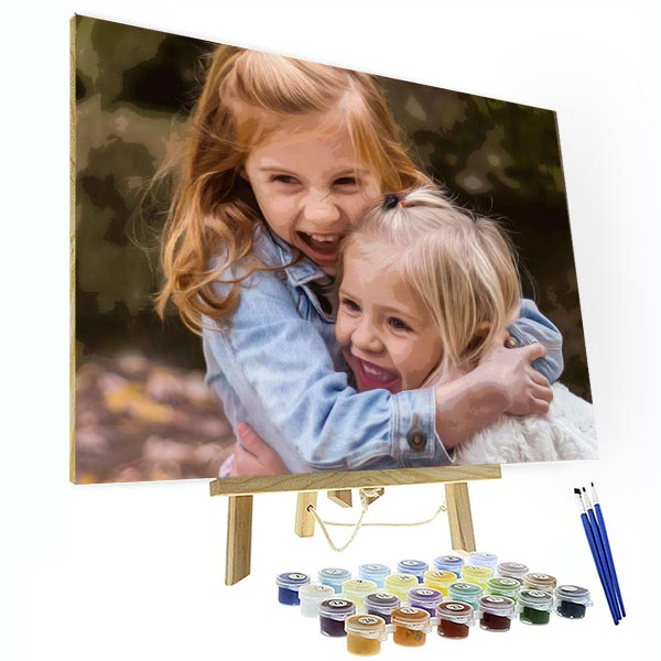 DIY Personalized Oil Painting For Your Kids